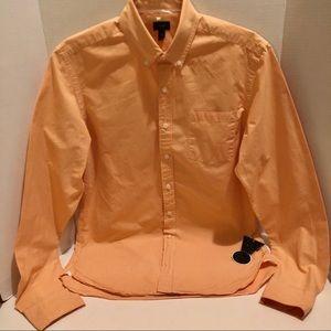 J. CREW-long sleeve button down gingham shirt.